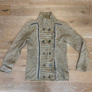 Free People Button Up Sweater   Brown   L